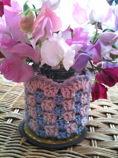Granny Stripe Jar Cover