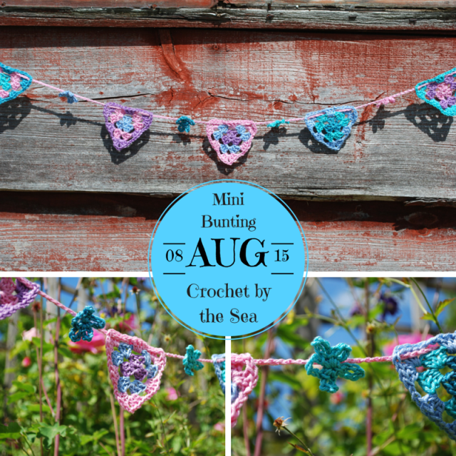 crocheted mini bunting