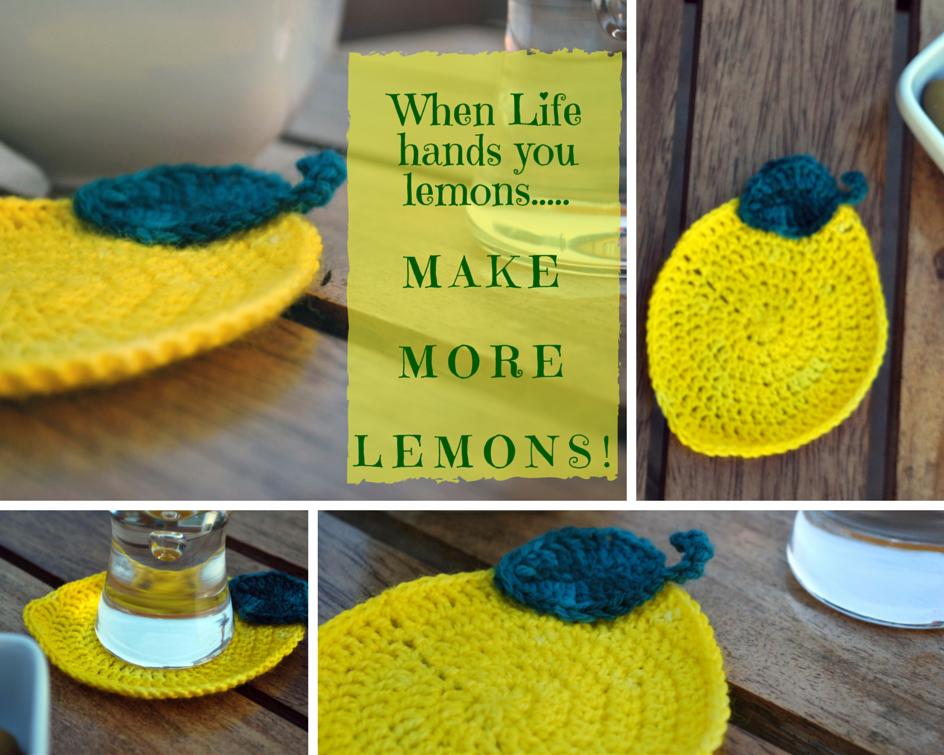 When Life Hands You Lemonsochet Lemon Coasters Pernickitywitch